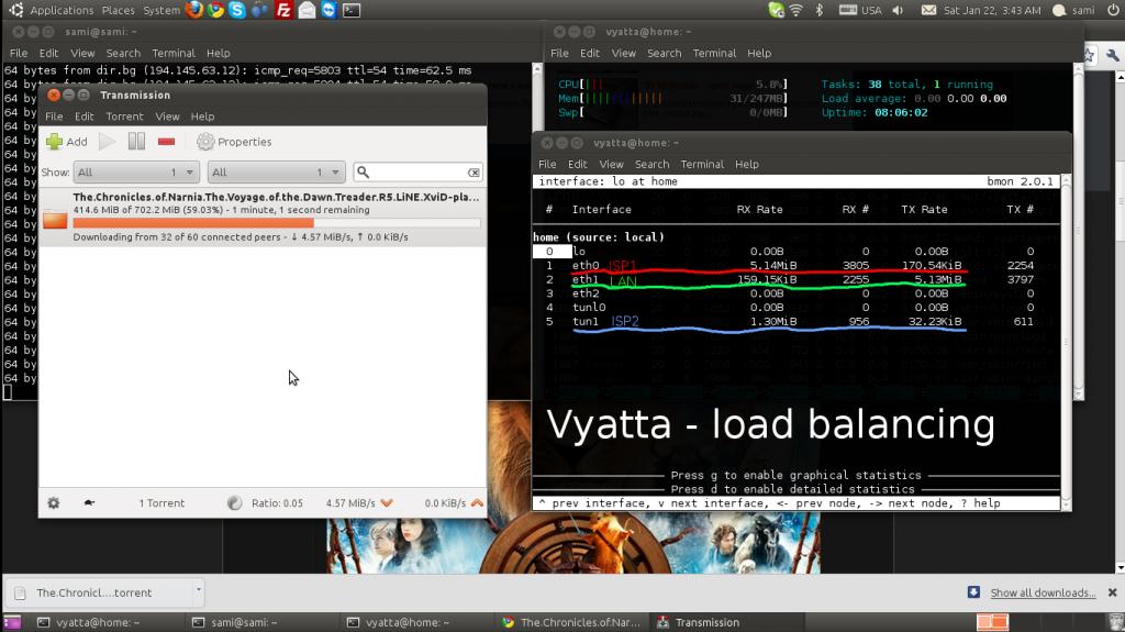 Vyatta - load balancing