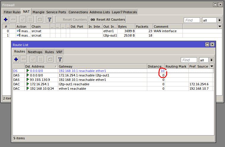 Mikrotik l2tp+ipsec client