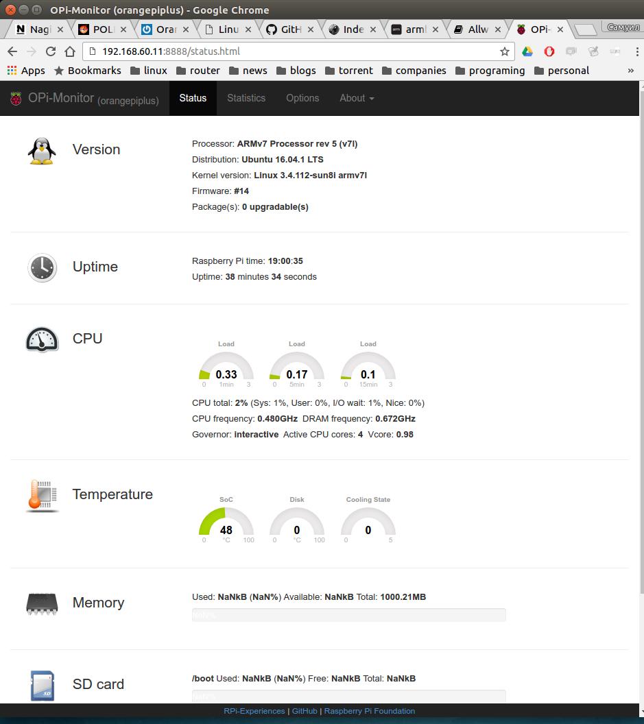 Orange Pi Plus Install Ubuntu Server 16.04 Armbian Image